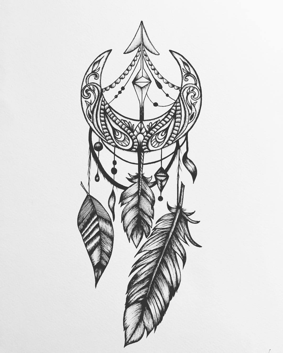Sun and dream catcher clipart black and white picture royalty free Moon Dreamcatcher Drawing at PaintingValley.com | Explore ... picture royalty free