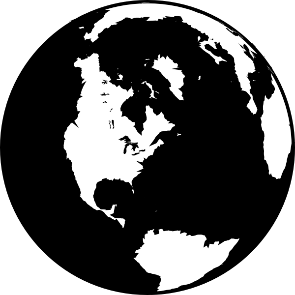 Sun and earth black and white clipart png black and white download Black And White Globe Clip Art at Clker.com - vector clip art online ... png black and white download
