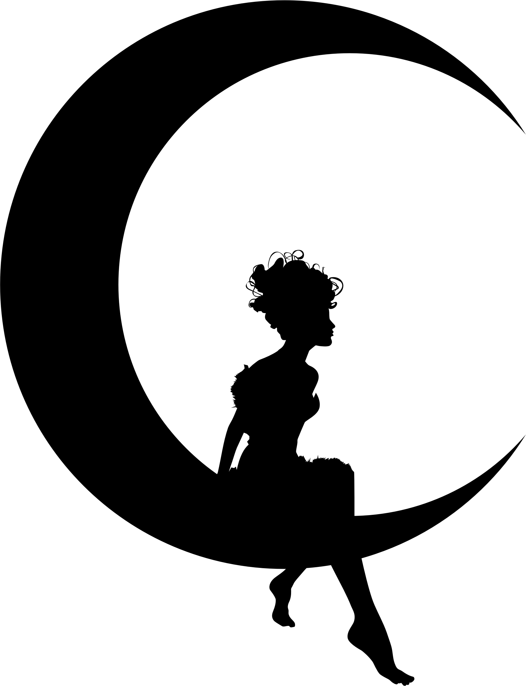 Sun and moon clipart transparent black graphic Half Moon Silhouette at GetDrawings.com | Free for personal use Half ... graphic