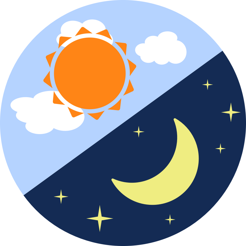 Sun and moon cycle clipart jpg stock Works/Images Cited | What's in the Sky? jpg stock