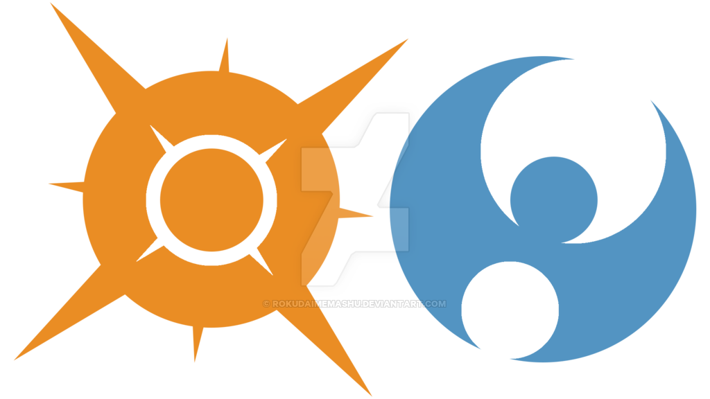 Sun and moon symbol clipart clipart free stock Pokemon sun Logos clipart free stock
