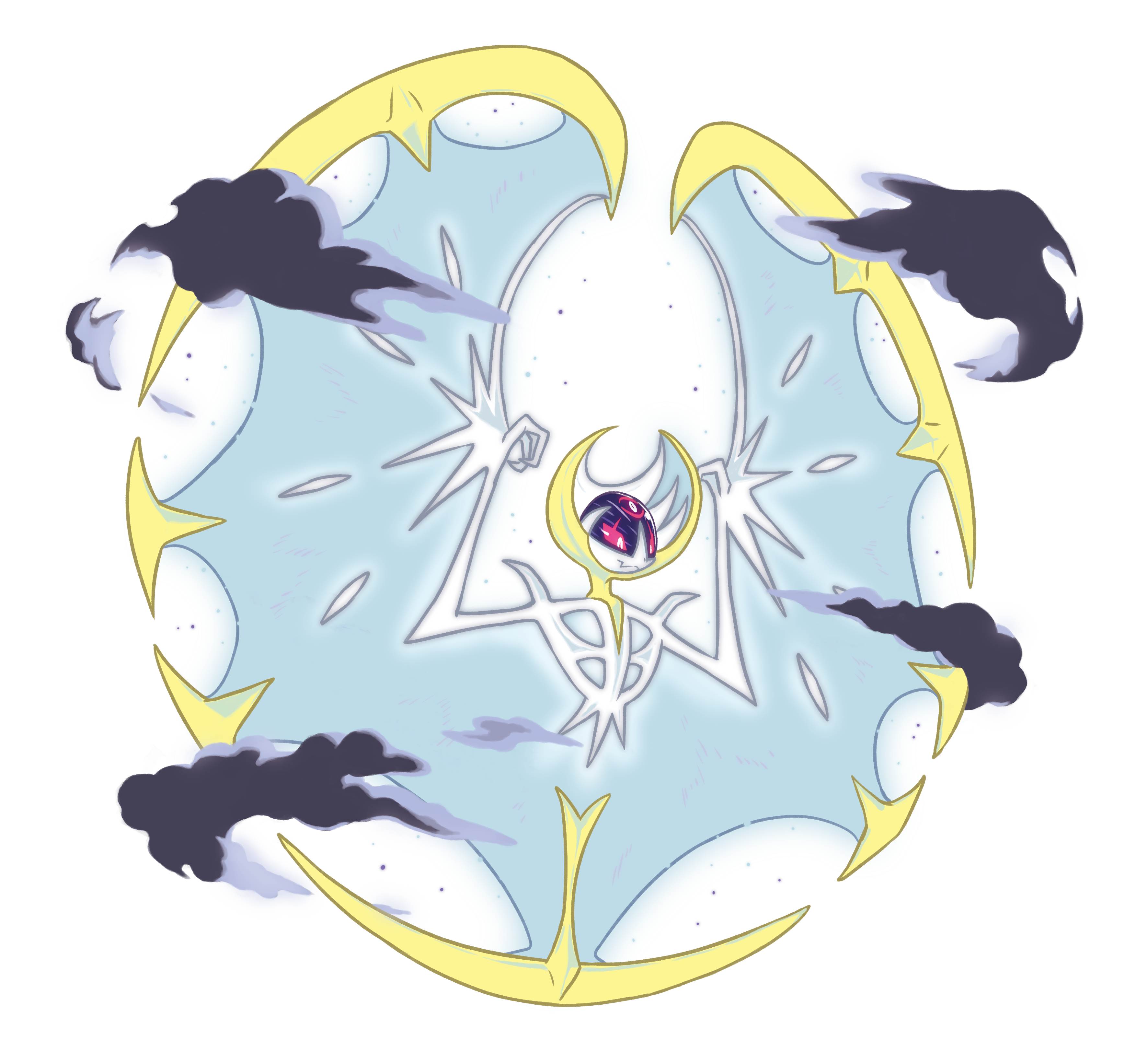 Sun and moon watch face clipart svg library Lunala Full Moon Phase | Pokémon Sun & Moon | Pinterest | Full moon ... svg library