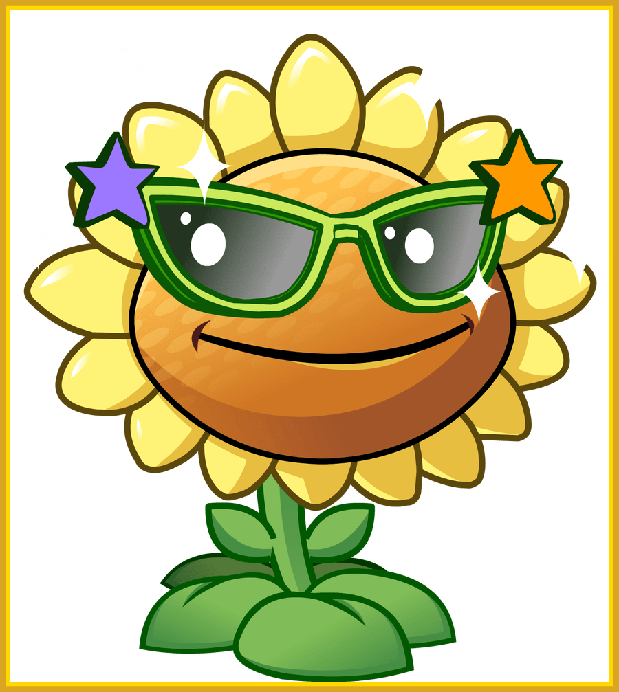 Sun and plant clipart banner free Inspiring Sunflower Clipart Plant Vs Zombie Pencil And In Color ... banner free