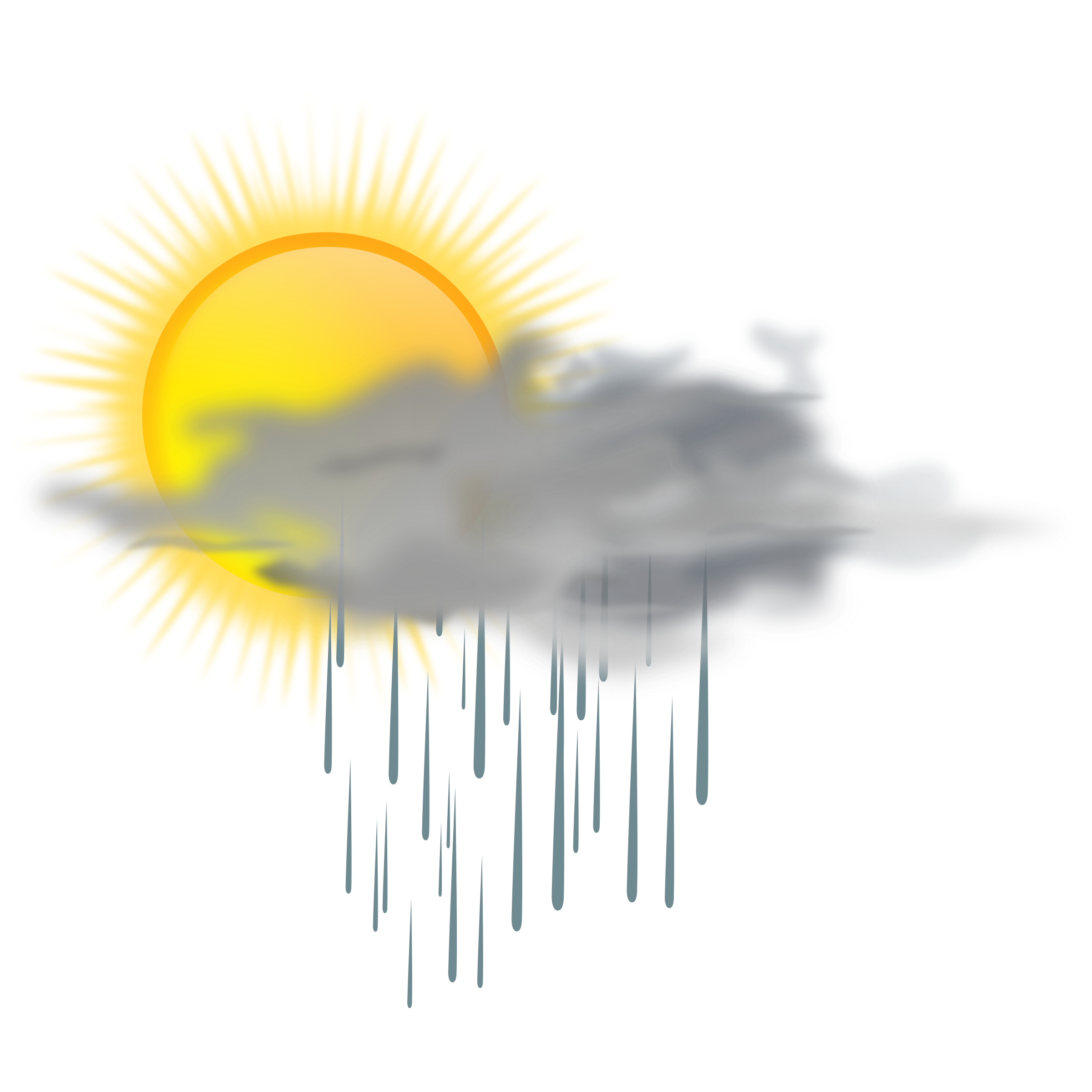 Sun sky clipart banner library library Clipart - weather icon - sun rain banner library library