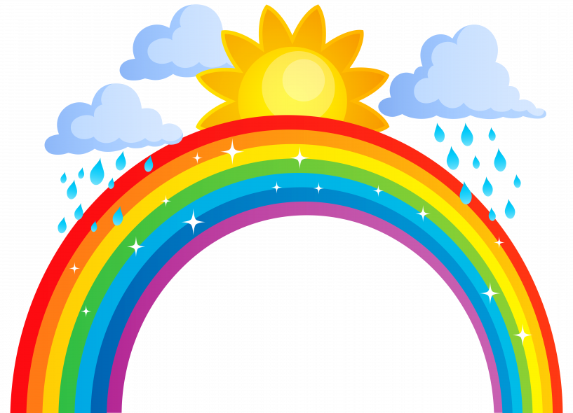 Sun and rainbow clipart picture library stock Sun Cloud Rainbow Clipart | jokingart.com Rainbow Clipart picture library stock