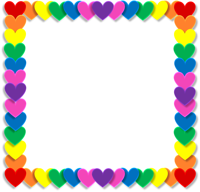 Sun and rainbowborder clipart jpg black and white Δωρεάν εικόνα στο Pixabay - Valentine, Καρδιά, Αγάπη, Κορνίζα ... jpg black and white