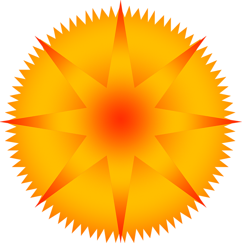 Sun with pointed rays clipart graphic royalty free library Star Clipart graphic royalty free library