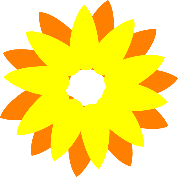 Sun and tree clipart clip free library Flower Sun Orange Clip Art at Clker.com - vector clip art online ... clip free library