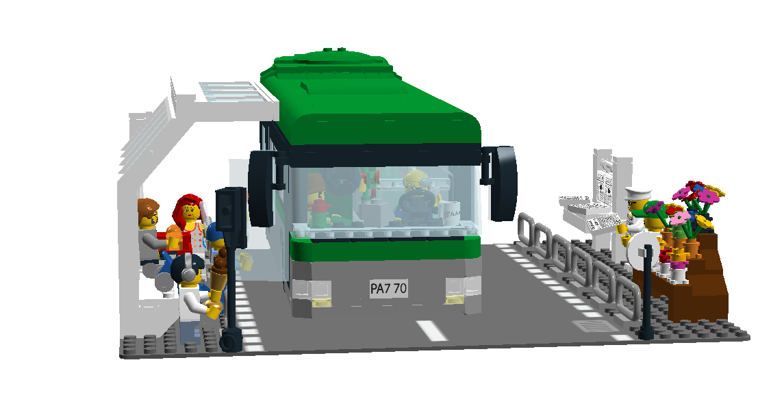 Sun at busstop clipart jpg black and white library LEGO Ideas - Product Ideas - Bus Station jpg black and white library