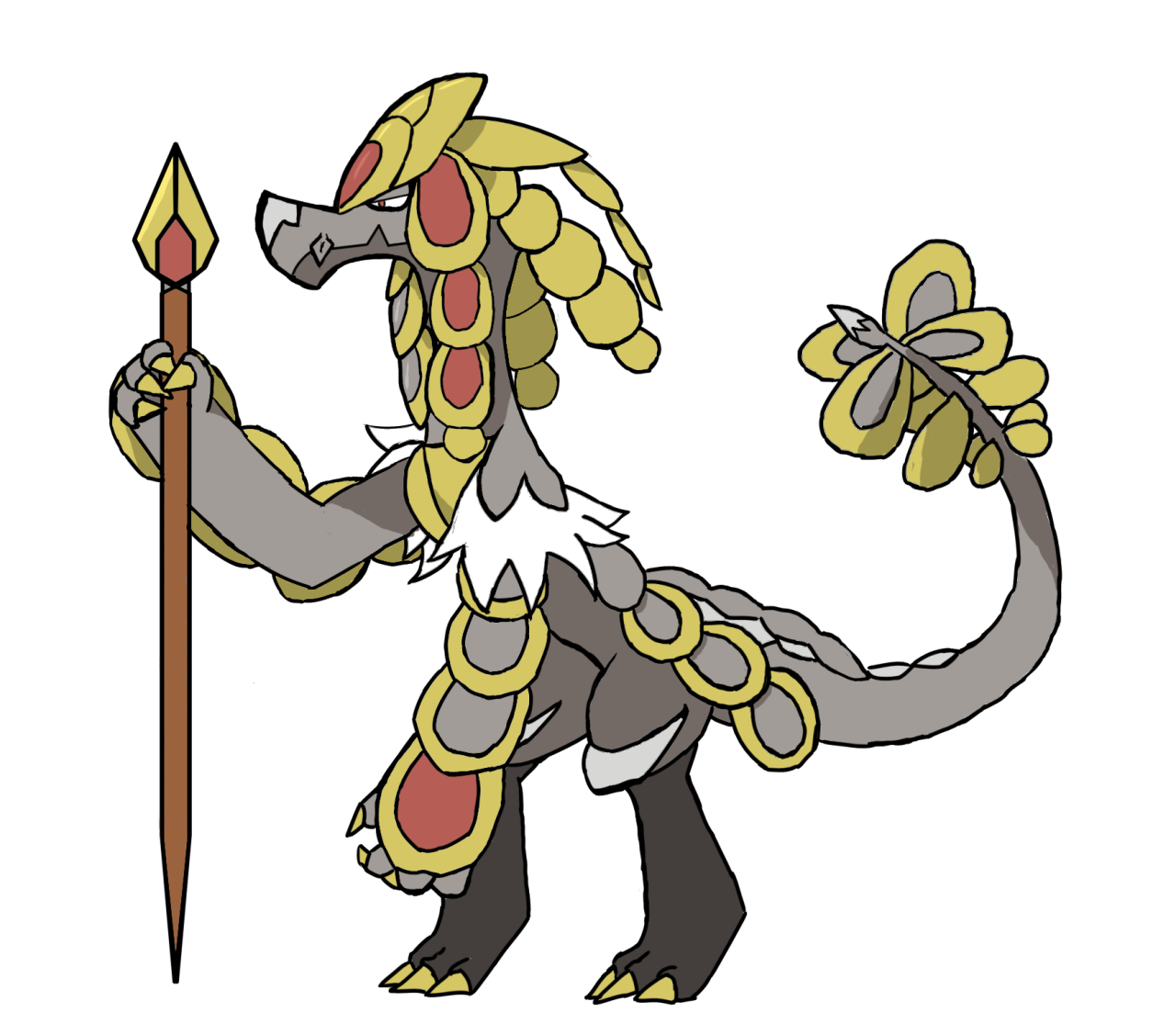Sun at busstop clipart clipart black and white Dhelmise Enthusiast — Kommo-o is absolutely my new favorite Pokemon.... clipart black and white