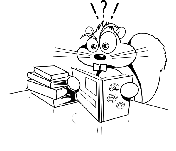 Sun bather reading a book clipart graphic royalty free Squirreled Clip Art at Clker.com - vector clip art online, royalty ... graphic royalty free