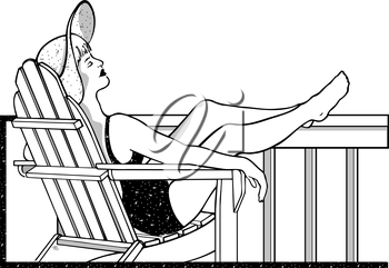 Sun bathing clipart black and white banner freeuse library Sunbathing clipart images and royalty-free illustrations ... banner freeuse library