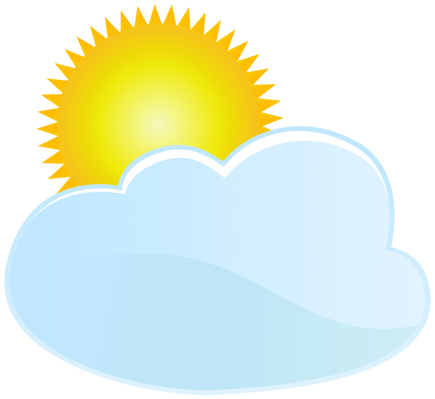 Sun behind a cloud clipart free svg freeuse stock cloud and sun weather icon png - Free PNG Images   TOPpng svg freeuse stock
