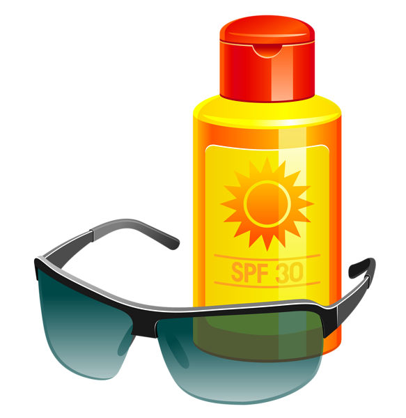 Sun tan lotion clipart png freeuse Sunscreen Lotion and Sunglass PNG Vector Clipart   Clip Art B ... png freeuse