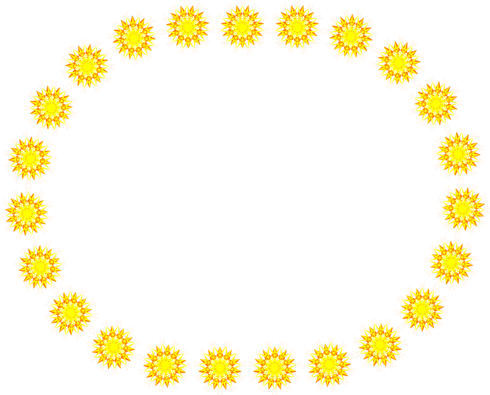 Sun shapes clipart clipart free Border | Free Stock Photo | Illustration of a blank oval frame of ... clipart free