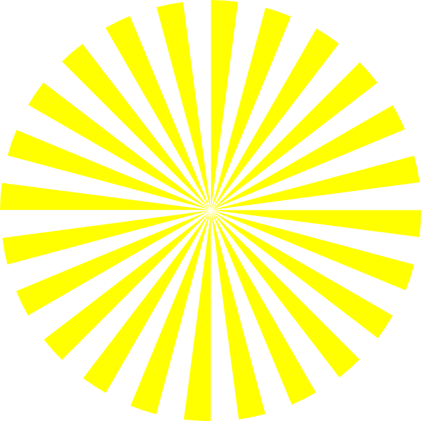 Sun burst clipart png library library Yellow Sunburst Clip Art at Clker.com - vector clip art online ... png library library