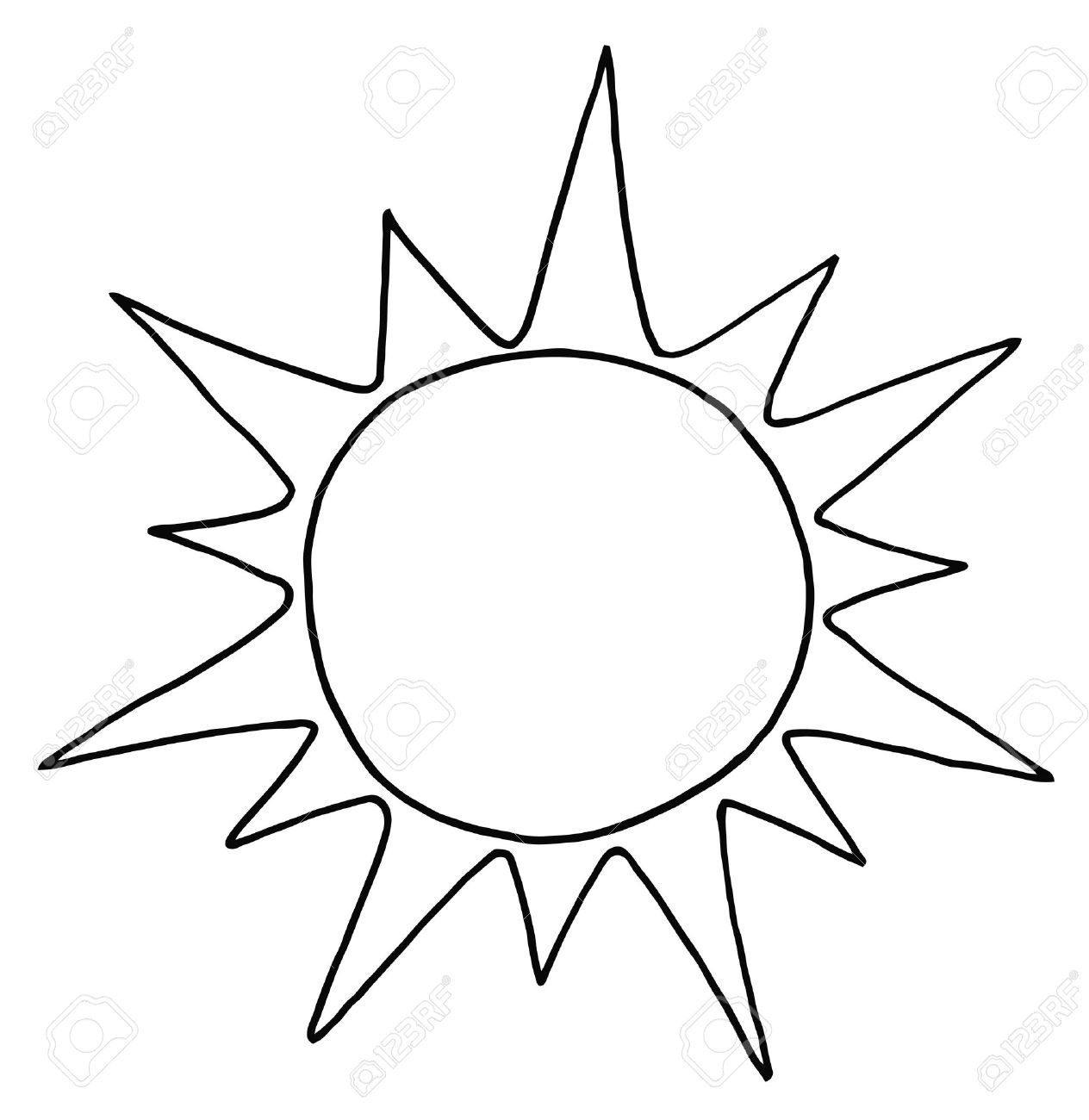 Sun bw clipart vector library library 17+ Sun Clip Art Black And White | ClipartLook vector library library
