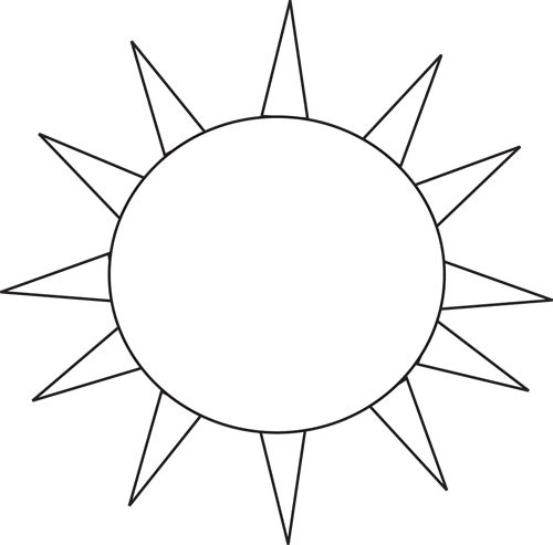 Sun bw clipart clip library library 91+ Sun Black And White Clipart | ClipartLook clip library library