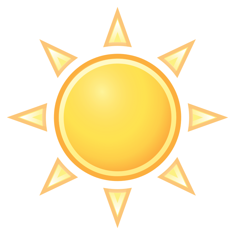 Sun clipart with 22 rays png royalty free Sun Clip Art With Transparent Background | Clipart Panda - Free ... png royalty free