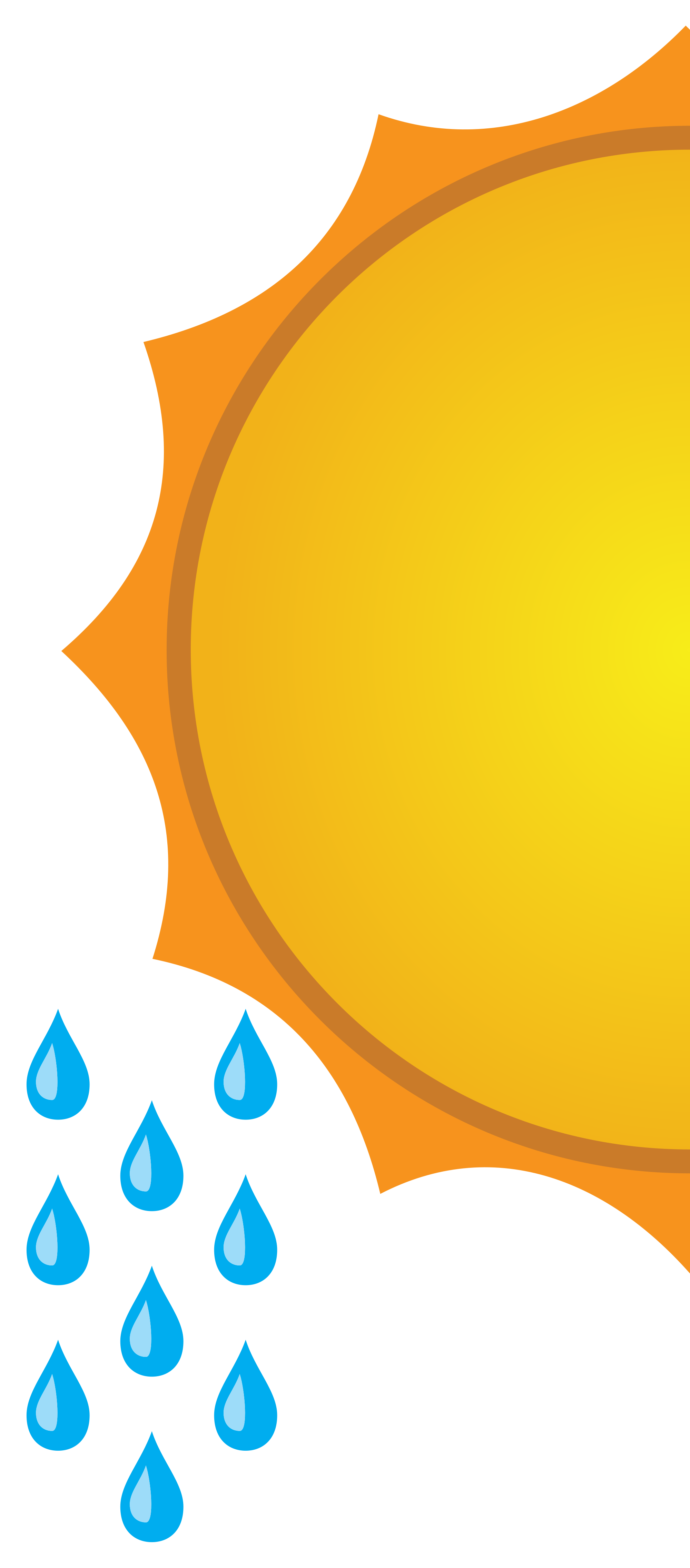 Sun clipart for weather forecast png black and white library File:Weather Forecast-Sunny+rain.svg - Wikimedia Commons png black and white library