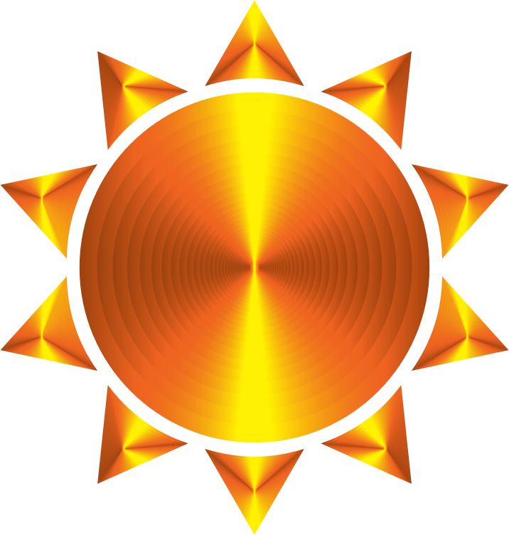 Sun clipart no face graphic royalty free download Clipart - Prismatic Sun Icon Variation 5 graphic royalty free download