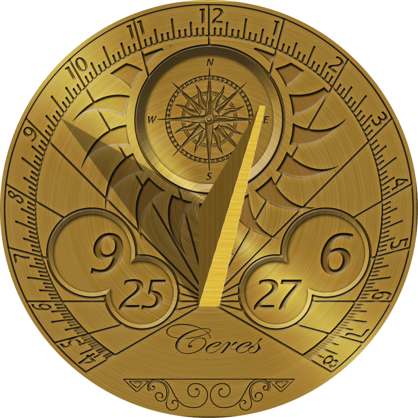 Sun clock clipart graphic download Golden Sundial Clipart transparent PNG - StickPNG graphic download