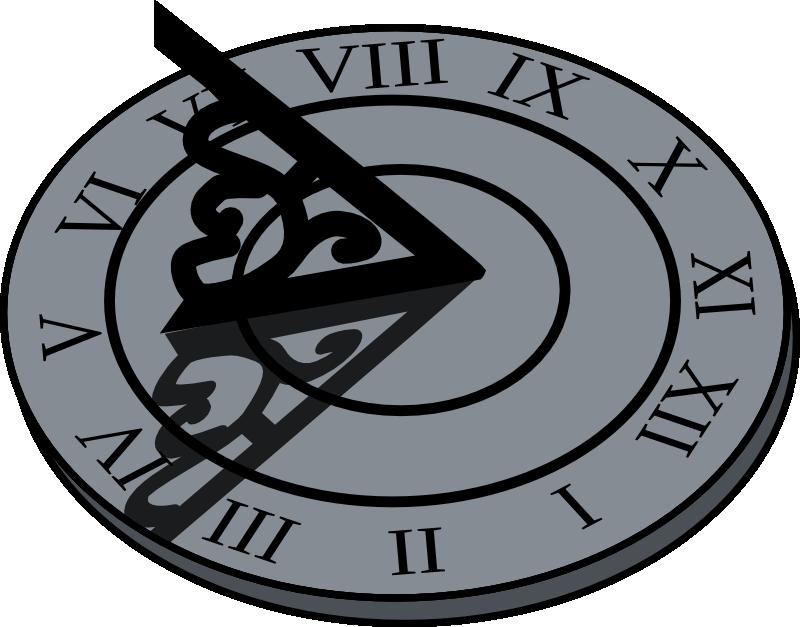 Sun clock clipart clipart black and white Kickstart Creative Works - Spark clipart black and white