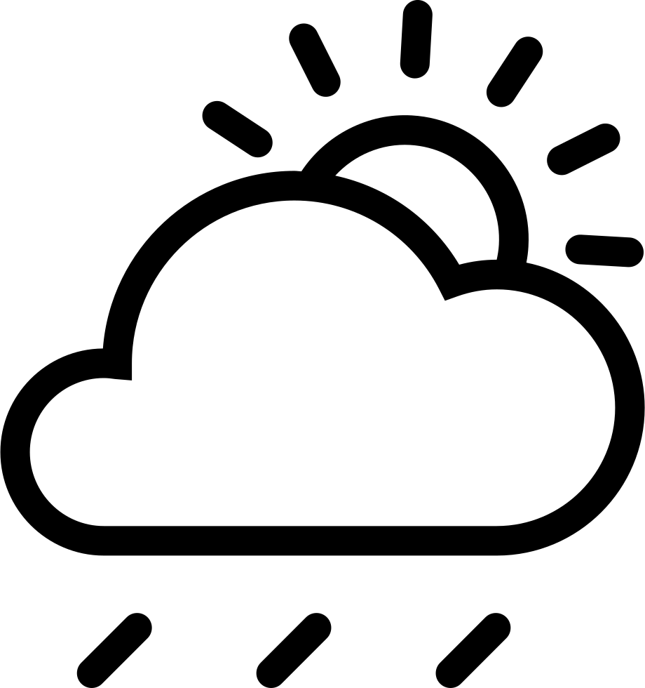 Sun cloud rain clipart png black and white stock Cloud Sun Rain Svg Png Icon Free Download (#249186) - OnlineWebFonts.COM png black and white stock