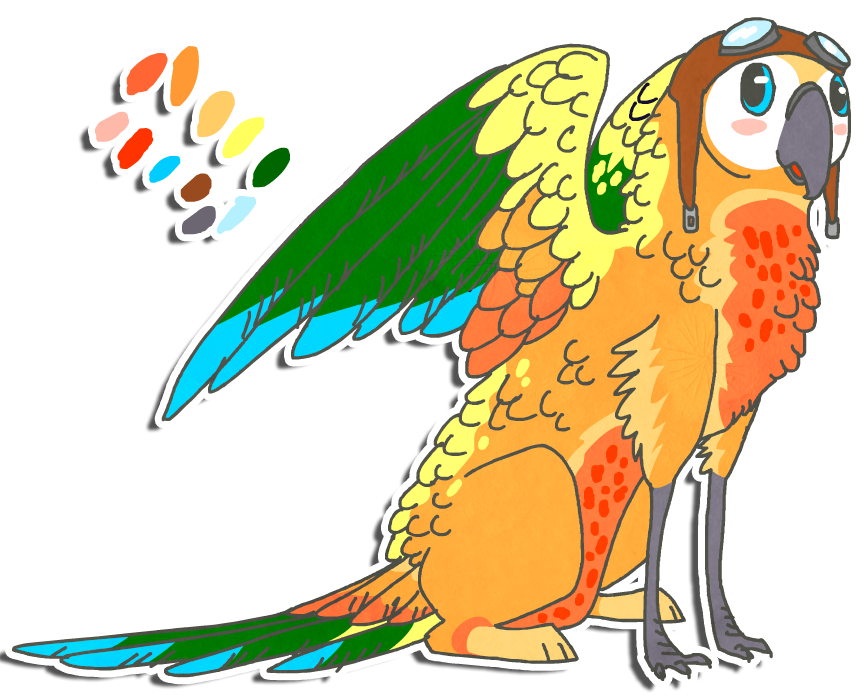 Sun conure clipart png jpg library download Sun Conure Griff for Sunut by Shroommu on DeviantArt jpg library download