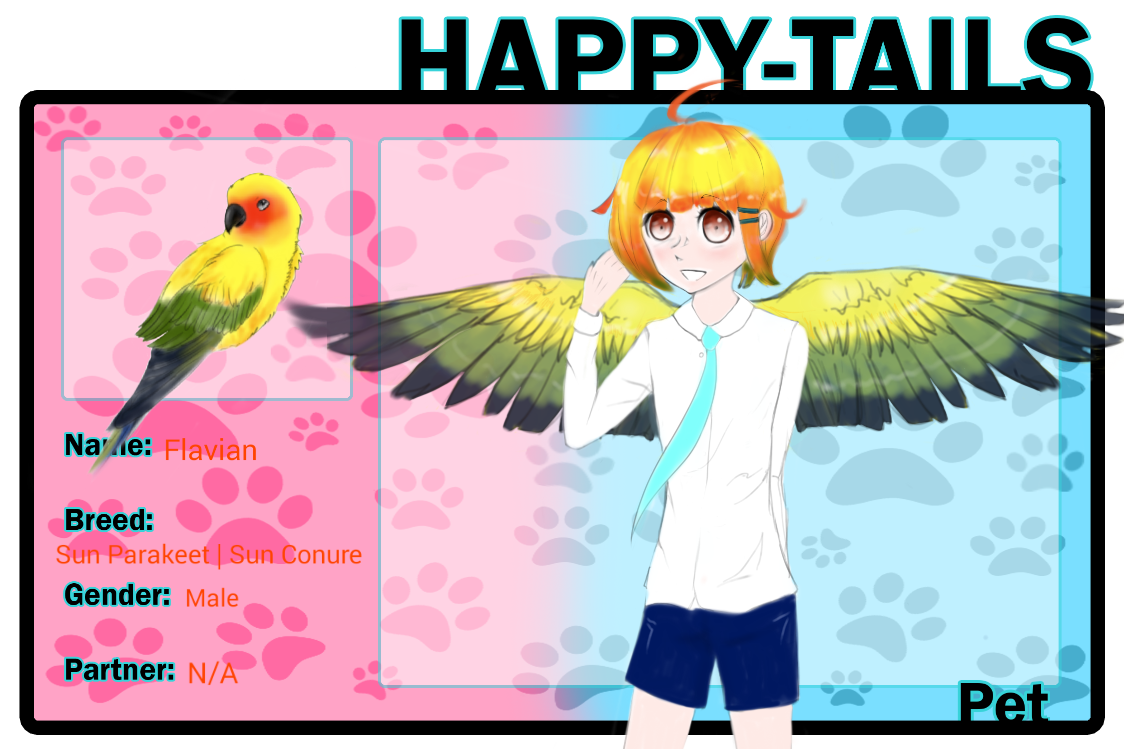Sun conure clipart png banner free library HT] Flavian by Moneybee-Chan on DeviantArt banner free library
