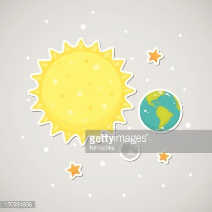 Sun earth moon clipart banner free library Sticker With The Sun, Earth, Moon premium clipart ... banner free library