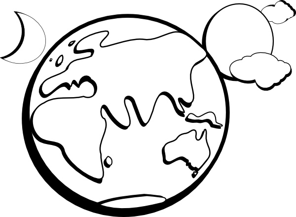 Sun earth moon clipart banner freeuse library Earth Moon Sun Outline clip art Free vector in Open office ... banner freeuse library