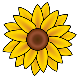 Sun flowerr clipart png black and white library sunflower-clipart-dc7eax5gi - Gardening Scotland png black and white library