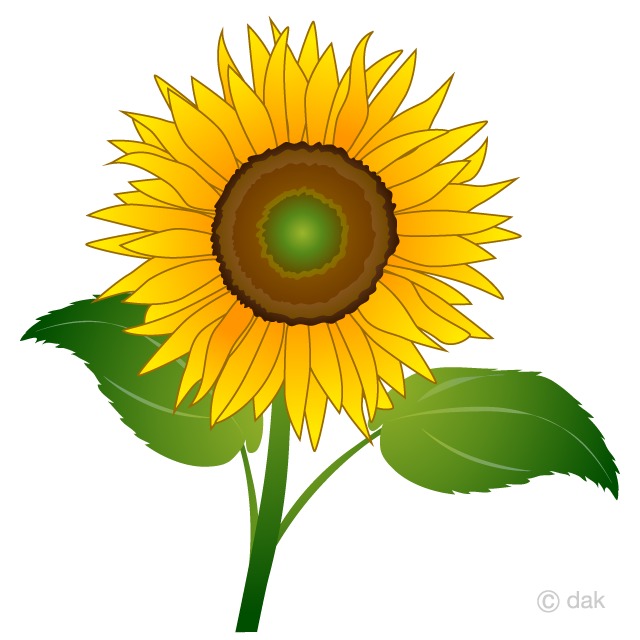 Sun flowerr clipart image royalty free stock One Sunflower Clipart Free Picture|Illustoon image royalty free stock