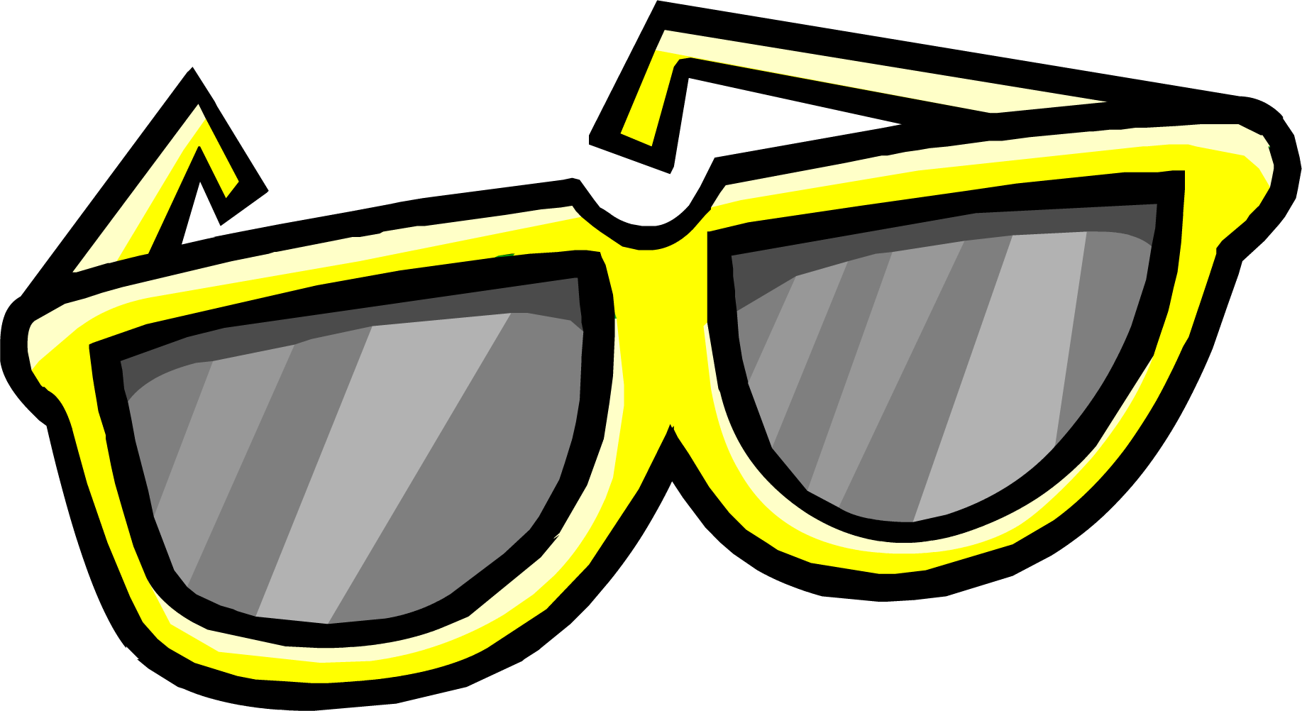 Sun glasses clipart clip art freeuse stock Yellow Giant Sunglasses | Club Penguin Wiki | FANDOM powered by Wikia clip art freeuse stock