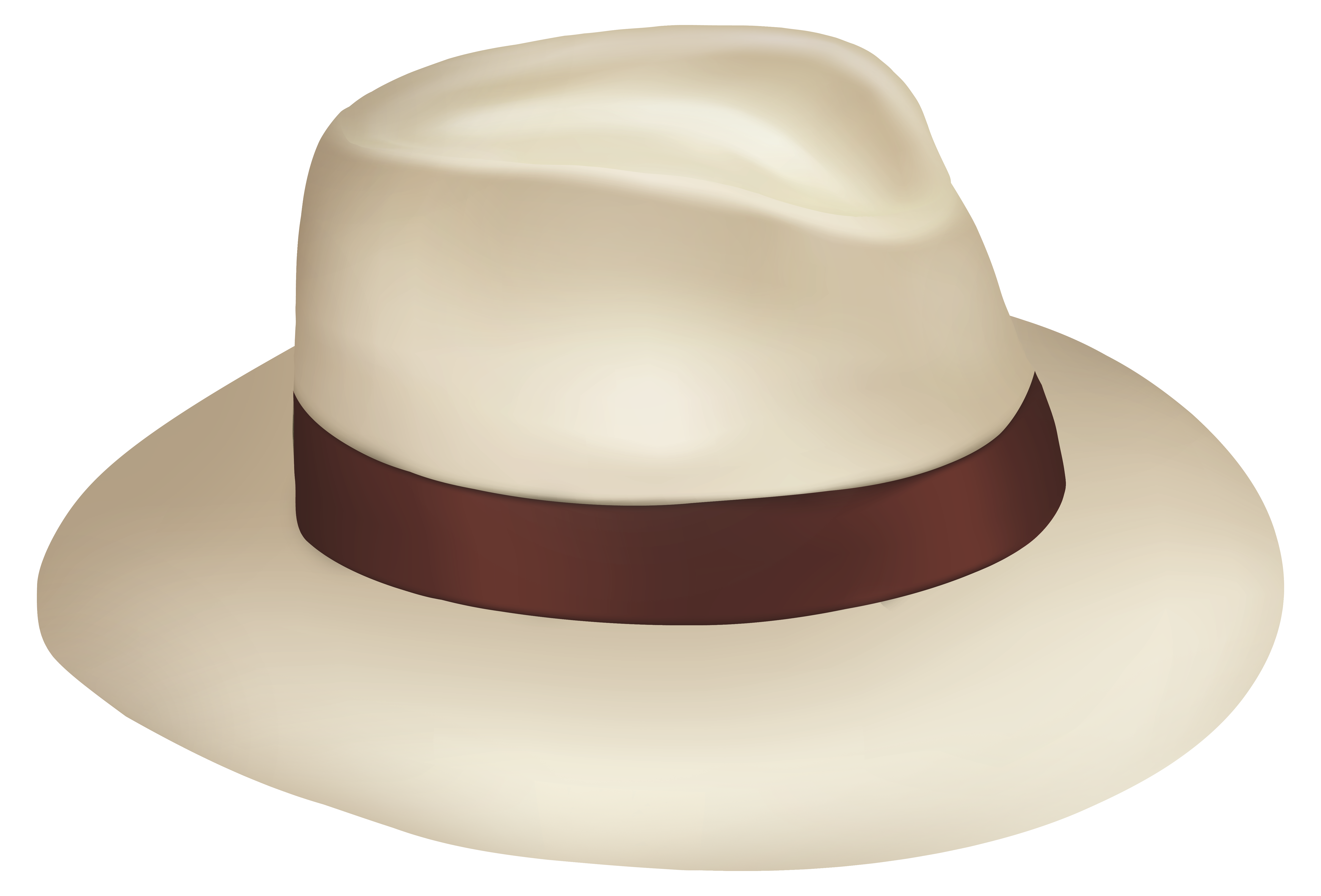 Sun hat clipart png picture transparent library Panama Sun Hat With Brown Ribbon PNG Clipart - Best WEB Clipart picture transparent library