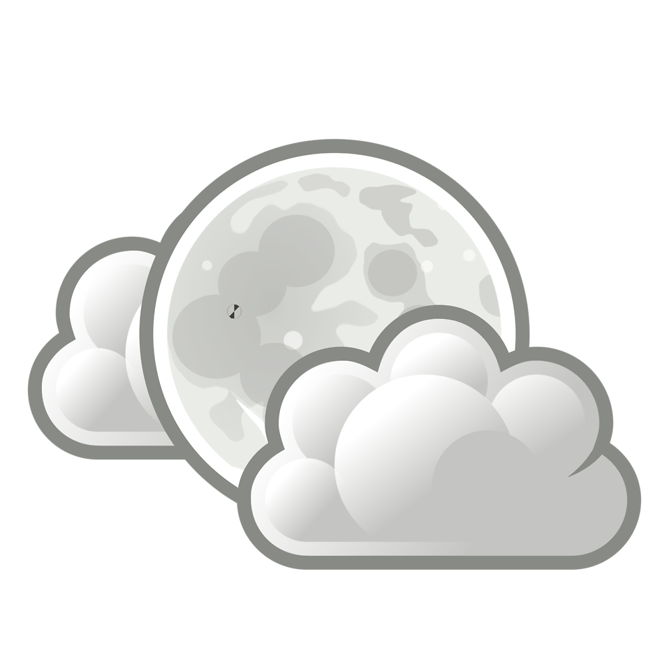 Sun with clouds infront clipart vector royalty free library Weather | Free Stock Photo | Illustration of the full moon with ... vector royalty free library