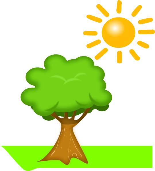 Tree and sun clipart banner freeuse download Tree Under Sunlight Clip Art at Clker.com - vector clip art online ... banner freeuse download