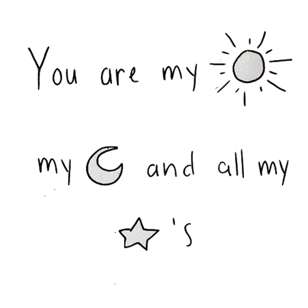 Sun moon and stars clipart black and white vector transparent download you are my sun my moon and all my stars ..... tumblr... vector transparent download