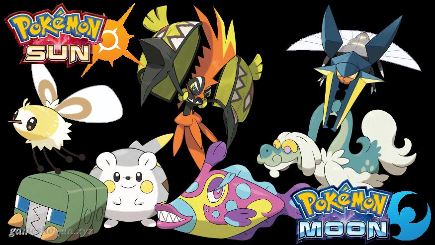 Sun moon seperate clipart banner stock New Pokémon in Sun and Moon Revealed — gameshogun™ banner stock