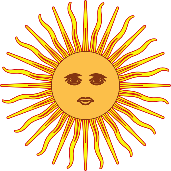 Sun of may clipart banner freeuse Sun Of May Clip Art at Clker.com - vector clip art online, royalty ... banner freeuse