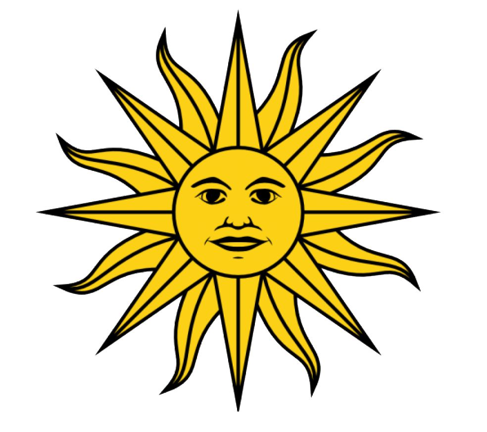 Sun of may clipart clipart freeuse library Uruguay Flag colors - Uruguay Flag meaning history clipart freeuse library