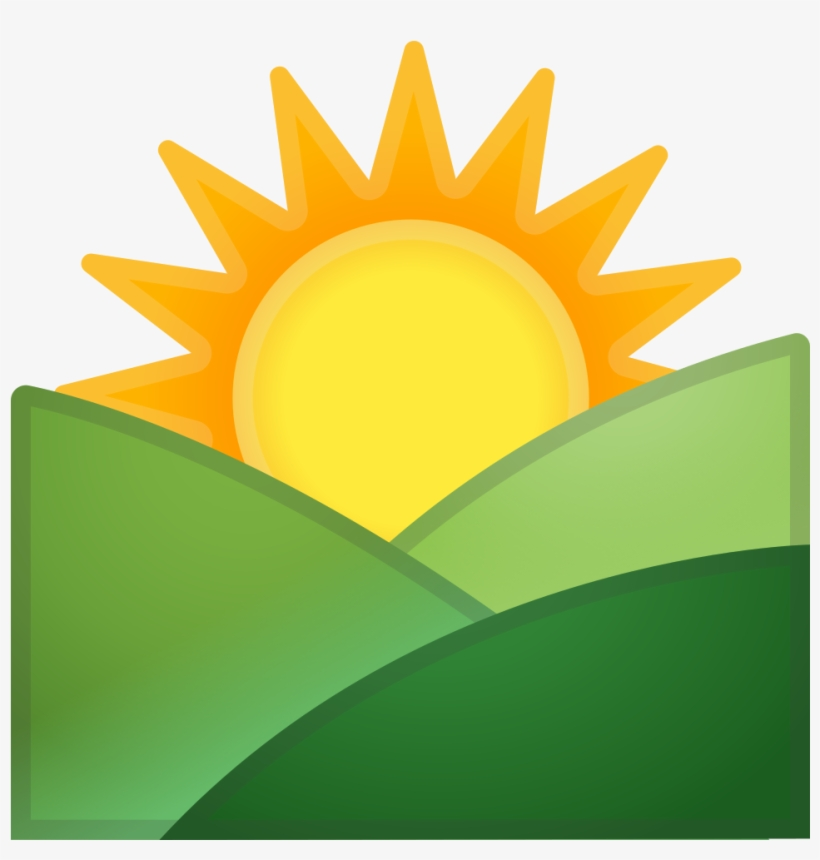Sun over mountain clipart svg library Sunrise Over Mountains Icon - Sun Rise Clipart - 1024x1024 ... svg library