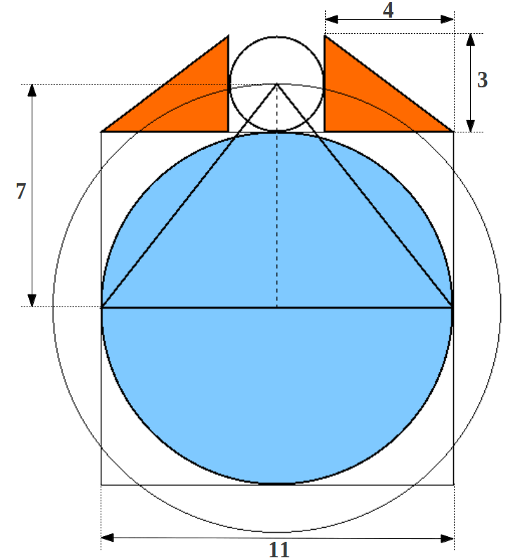 Sun over pyramid clipart vector freeuse library Figure 4: The proportions in the Great Pyramid and the Phythagorean ... vector freeuse library