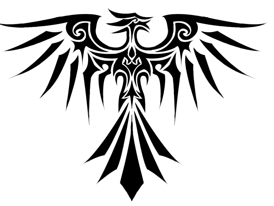 Sun phoenix clipart vector black and white stock Tribal Eagle Tattoo Three | Isolated Stock Photo by noBACKS.com vector black and white stock