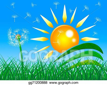 Sun rays field clipart image freeuse stock Stock Illustration - Sun rays shows green grass and beam ... image freeuse stock