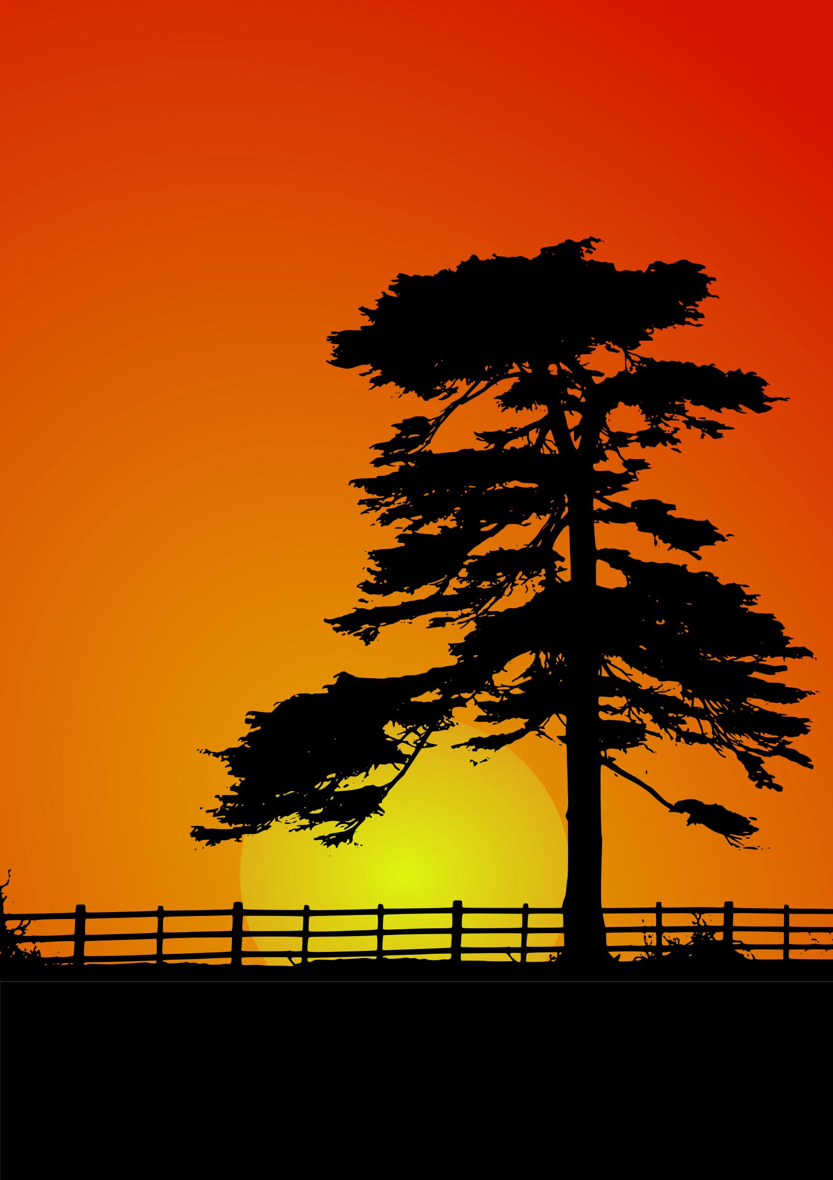 Sun set clipart vector free library Clipart - Cedar Sunset vector free library