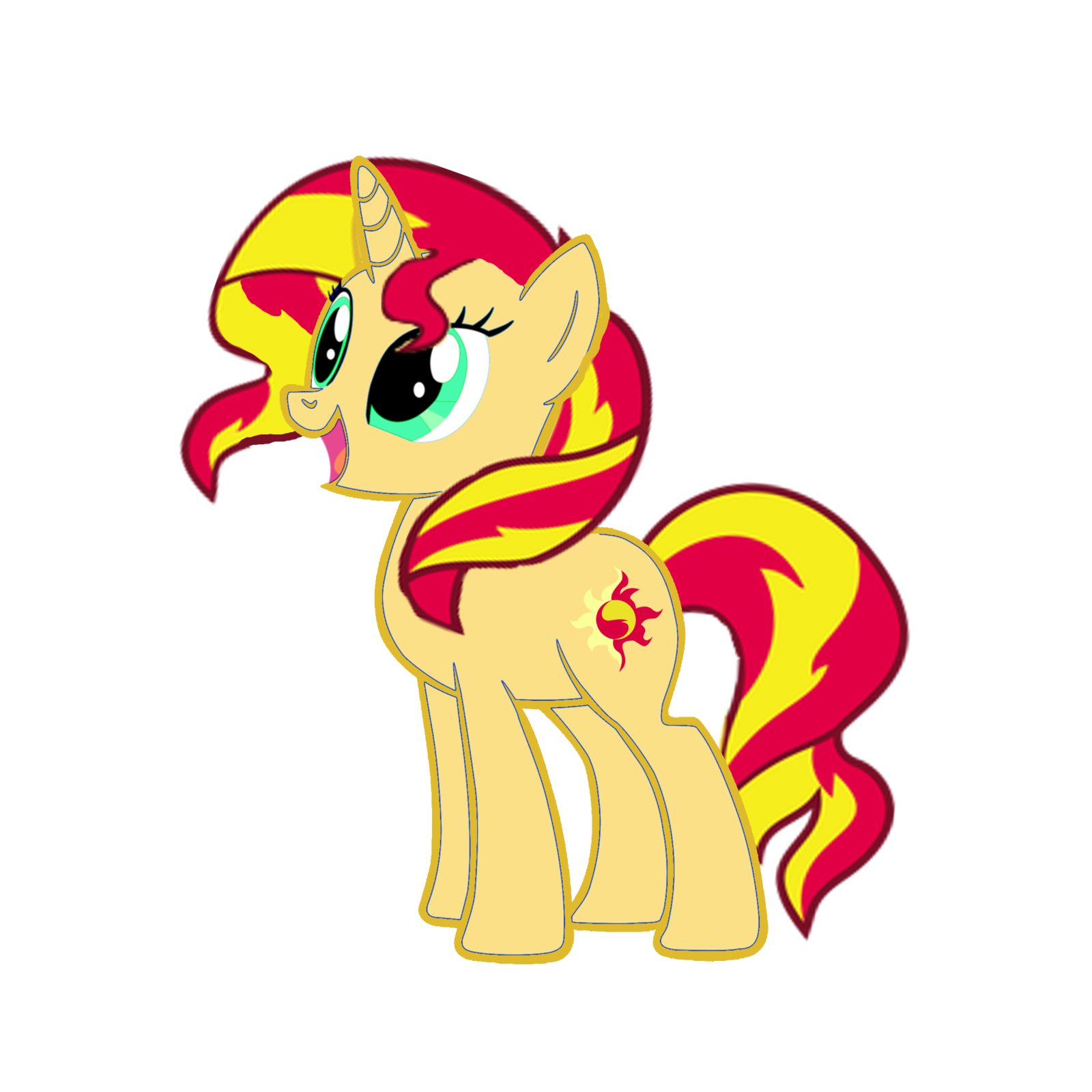 Sun set clipart svg free library Happy Sunset Shimmer by RealRainbowDashMFT on DeviantArt svg free library