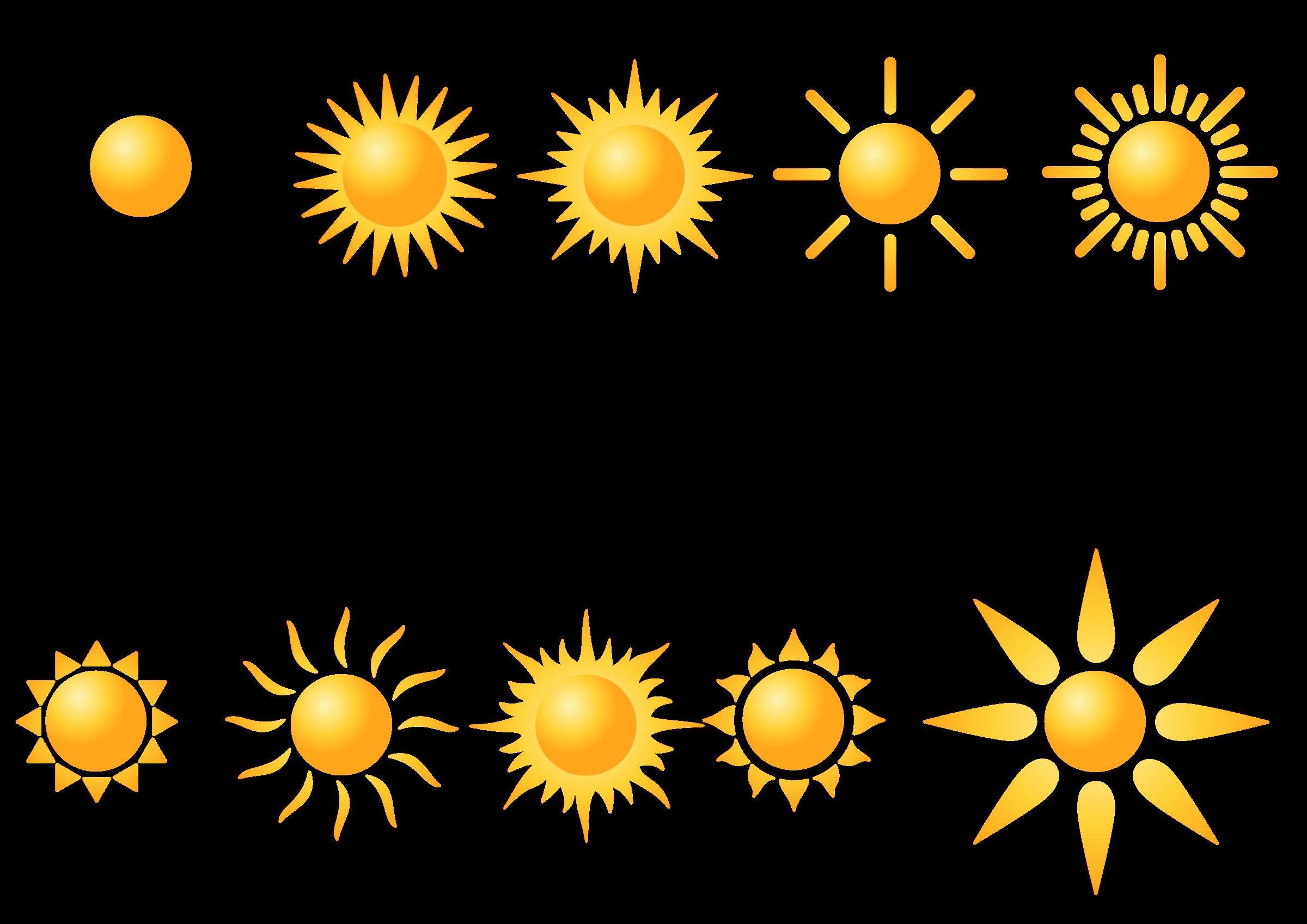 Sun shapes clipart clip art stock Clipart - Sun shapes clip art stock