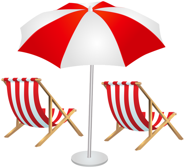 Sun umbrella clipart clip royalty free library Beach Chairs and Umbrella PNG Clip Art Image | LEŻAK Z PARASOLKĄ ... clip royalty free library